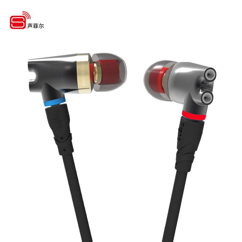 2017 Original SENFER DT2 Plus Updated In Ear earphone Dynamic+2BA Hybrid Drive Headsets HIFI Bass earphones With MMCX Interface 2017 rose 3d 7 in ear earphone dd with ba hybrid drive unit hifi monitor dj 3d printing customized earphone with mmcx interface
