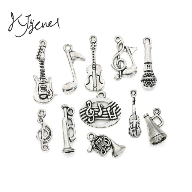 Mixed tibetan silver plated music note guitar trumpet tape charms mixed tibetan silver plated music note guitar trumpet tape charms pendants for bracelet necklace jewelry making mozeypictures Gallery