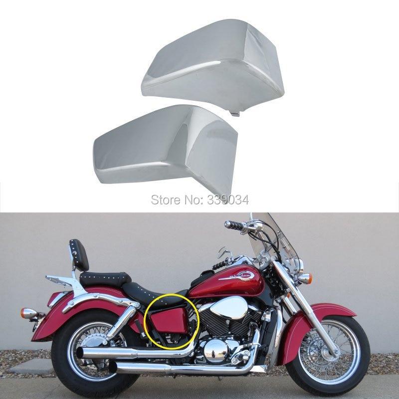 Chrome Battery Side Fairing Cover Metal Fit For Honda Shadow ACE VT 750 1997-2003  motorcycle saddlebag bracket support bar for honda shadow ace vt400 vt750 1997 2003 solid steel chrome 16cm 2pcs high quality