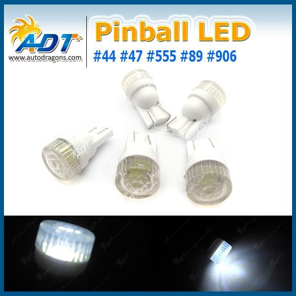 Anti Flickering 100PCS AC DC 6V/6.3V T10 194 #555 W5W 2*5630 SMD+ Flat Header LED Pinball Machine Light Bulb Lamp Super White