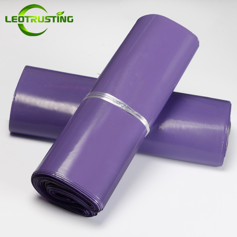 Leotrusting Deep Purple Poly Mailer Adhesive Envelopes Bags Courier Gift Bags Plastic Mailing Gift Boxes Packaging Express Bags