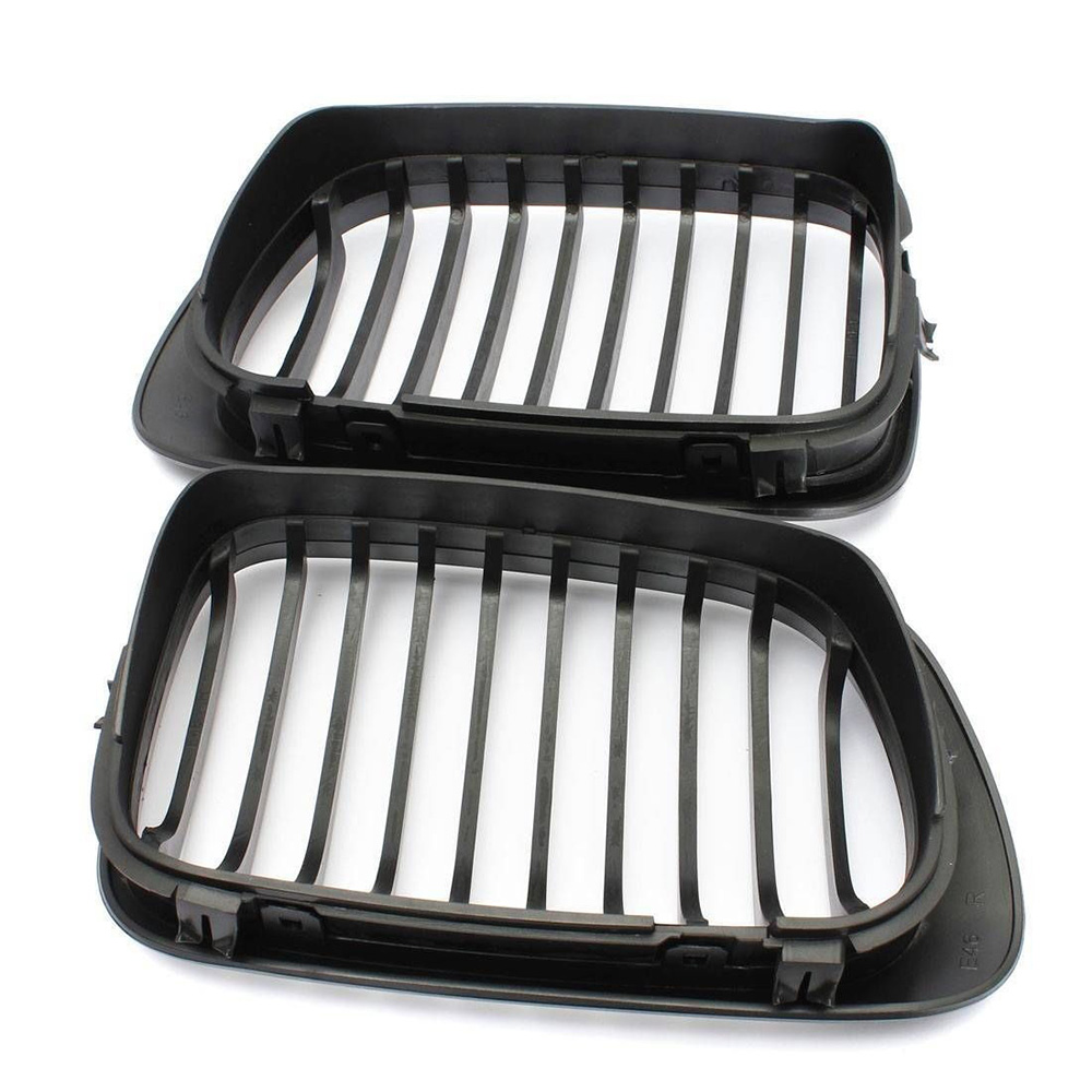 Image 2 - E46 2D Black Kidney Sport Grilles Grill for BMW E46 Coupe 2 Door 1999 2002 Pre Facelift-in Racing Grills from Automobiles & Motorcycles