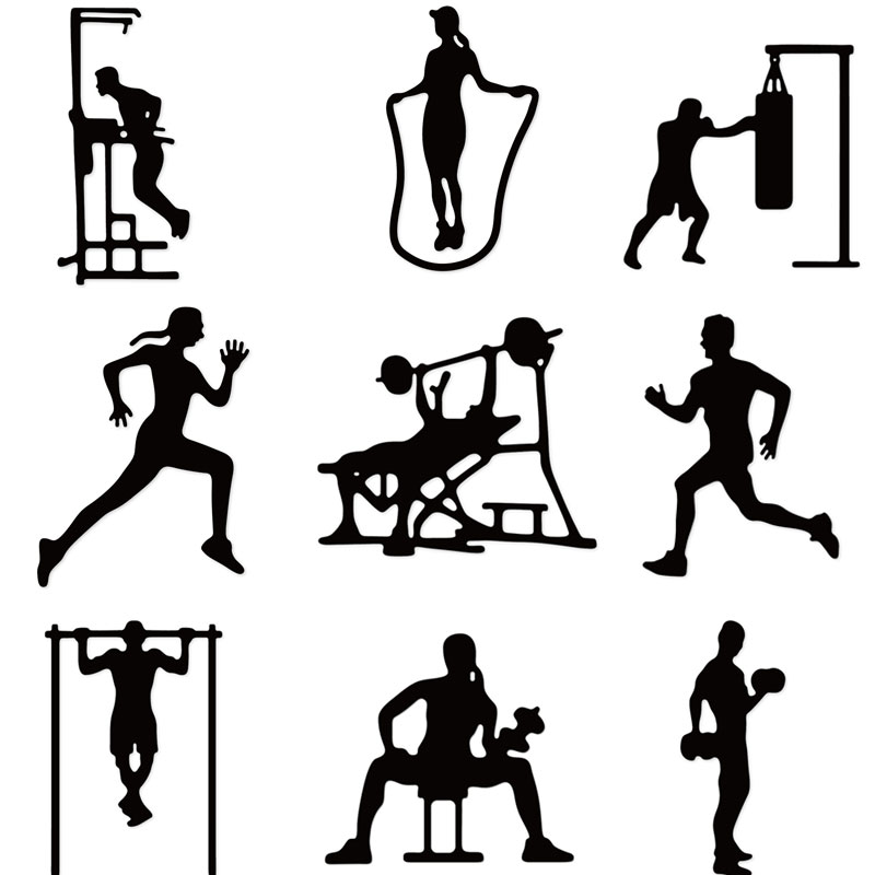 Gym Fitness Exercise Metal Cutting Dies Scrapbooking Craft Dies Cuts Thin Paper Emboss Card Make Stencil
