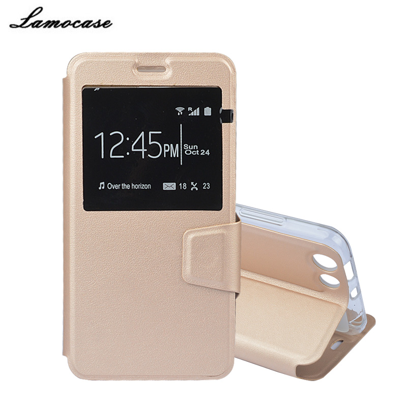 Lamocase Case For Prestigio Muze D3 PSP3530 DUO 3530 5.3'' Leather Filp Case For Prestigio Muze D3 Window Style Bags Protective