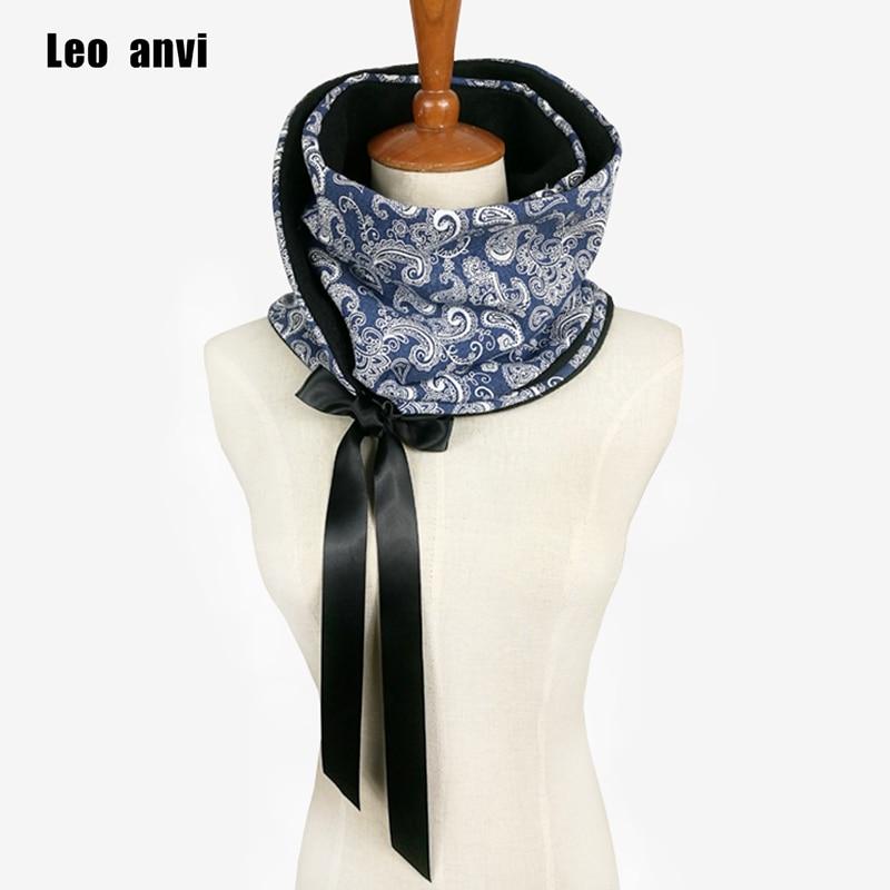 Leo anvi winter Neck warm scarf women Double Infinity Scarf cotton Webbing Bow Loop foulard scarves hijab foulard
