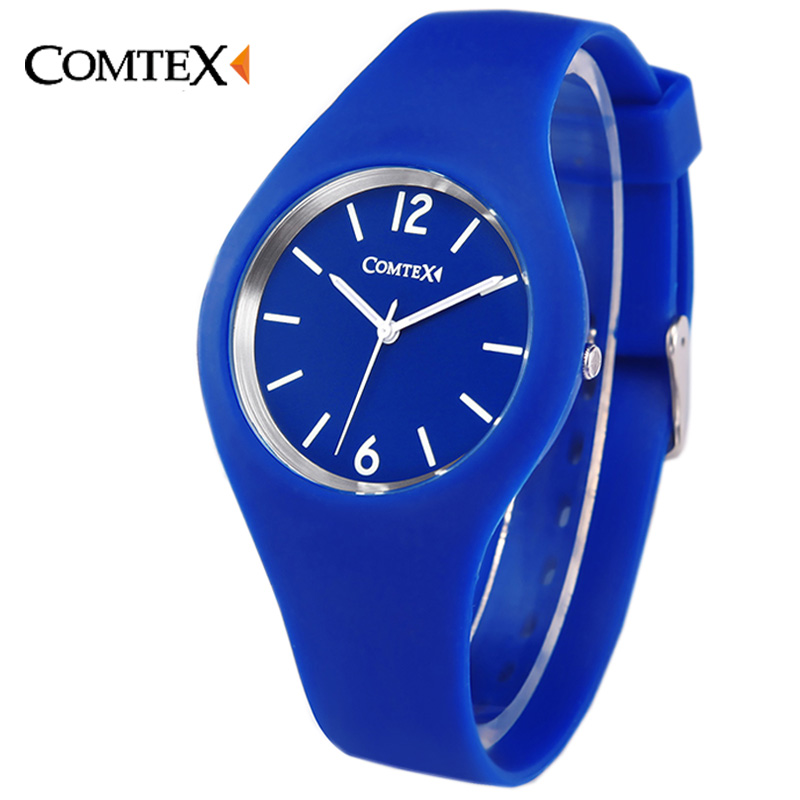 Watch Women Comtex luxury brand Fashion Casual quartz watches Silicone Sport relojes mujer women cute watches
