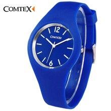 Watch Women Comtex luxury brand Fashion Casual quartz watches Silicone Sport relojes mujer women cute watches sport men watches