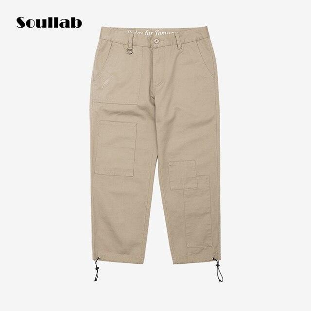 6d26a2f12f2e 2018 black khaki olive men bottoms ninth pants pockets baggy drawstring  trousers street Japanese fashion 3d cutting streetwear