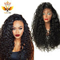 Hot !!Glueless Synthetic Lace Front Wigs With Baby Hair Deep Curly Cheap Free Part 7A Brazilian Lace Front Wigs For Black Women