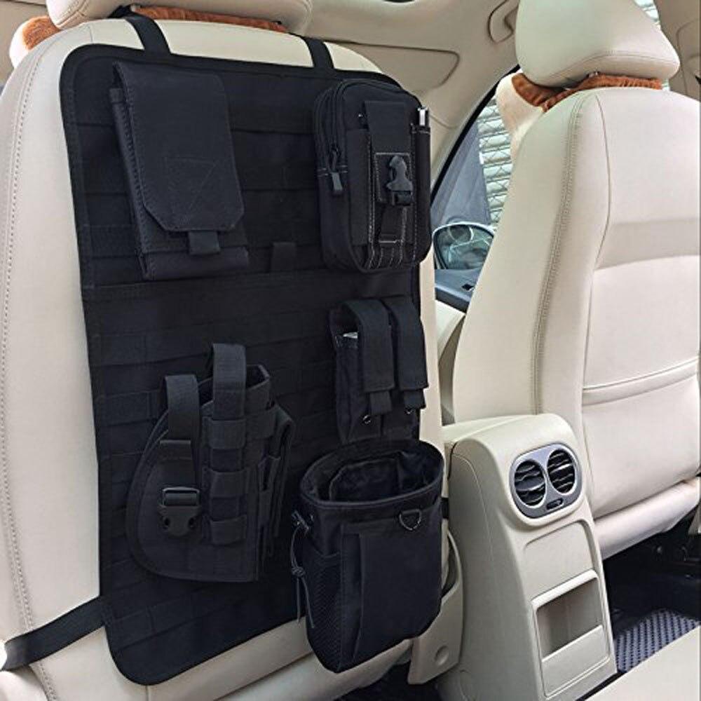 Taktische MOLLE Auto Sitz Zurück Organizer Universal Sitz Abdeckung Fall Fahrzeug Panel Auto Sitz Abdeckung Protector