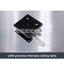 Óptico-Eixo Z LZ60 Alta-precisão Micrômetro Fine-tune Plataforma Deslocamento Slide Tabela do Nível da Fase Levantador 20.4N (3kgf) 60*60mm