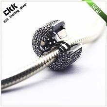 Se adapta para pandora pulseras pavimenta barril beads clip con clear cubic zirconia 100% 925 encantos de la plata esterlina envío gratis
