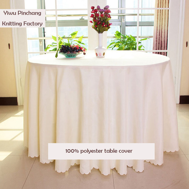 2017 New Arrival Limited 10pcs 90 Inches Double Sched Polyester Round Tablecloth For Wedding Decorations Christmas