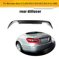Углеродного волокна заднего бампера для губ Диффузор для Mercedes Benz W212 Стандартный только 2010 2013 Стиль