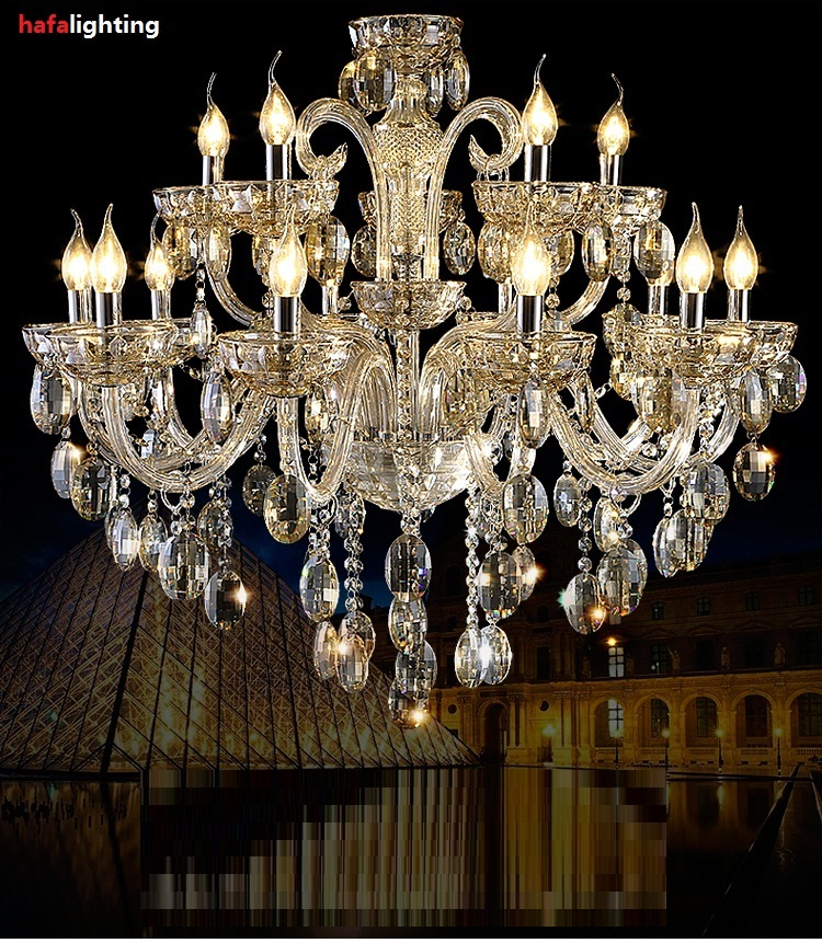 Crystal Chandelier Light Export K9 Noble Luxurious15 Candel crystal lights Villa living room crystal lights Luxury chandeliers набор насадок барабанов для мясорубок philips hr 7996 00