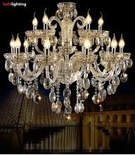 Хрустальная люстра экспорт K9 благородный Luxurious15 кандел хрустальные светильники вилла гостиная хрустальные светильники роскошные люстры