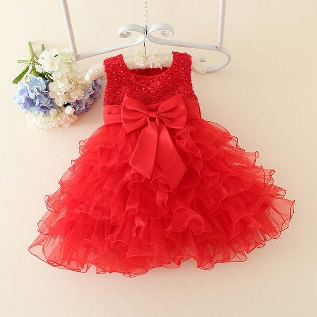 iEFiEL Princess Baby Girls Toddler Lace Tutu Beading Communion Dress  Layered Party Wedding Bow Formal 3D. placeholder ... befbeed20d3e