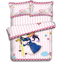 Japanese Anime fate stay night- saber Bed sheets Bedding Sheet Sets Comforter Quilt Cover Pillow Case 4PCS