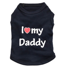 """Soft Summer """"I Love My Mommy and Daddy"""" Yorkie t-shirt"""