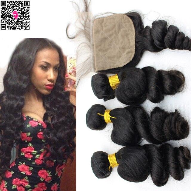 Aliexpress Buy 4pcs Lot Peruvian Virgin Hair Loose Wave With
