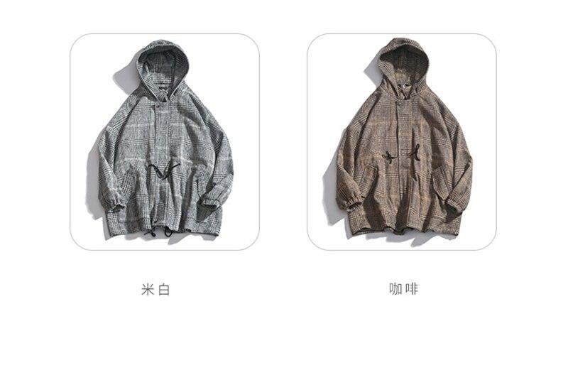 Male Long Coat Oversize Lapel Button Sobretodos Hombre Overcoat Streetwear (2)
