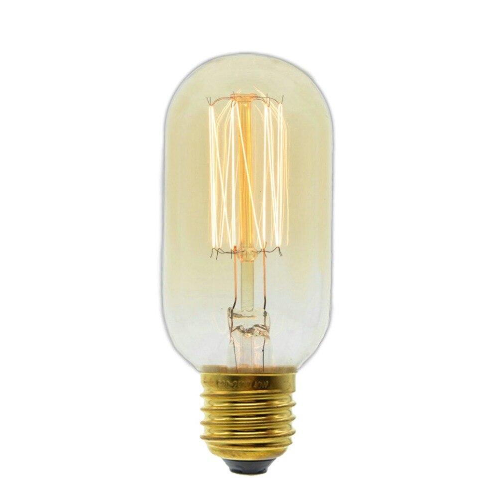 Edison Retro Vintage Incandescent Bulb 40w/60w 220v E27 T45 Filament Lamp Lampada Homedecor Antique Lamp Incandescent Bulbs Light Bulbs