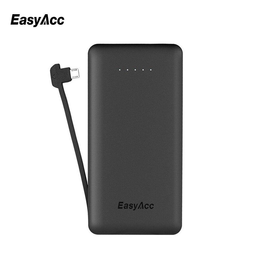 EasyAcc 6000 mAh Power Bank Cargador Portátil con Una Función de Micro Cable USB Ultra-Delgado Cargador de Batería Externo para Moblie teléfono