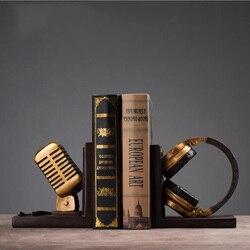 Decoración de estilo Retro del norte de Europa artesanía sujetalibros resina Mike sujetalibros estante de libros sala de estar decoración de oficina