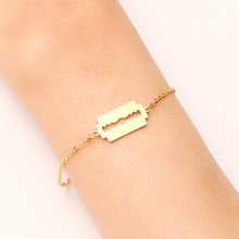 Женский браслет DOTIFI, браслет из нержавеющей стали золотистого и серебристого цвета в форме бритвы