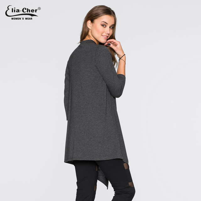 Long Knitting Cotton Mix Blouse Top, Elia-Cher