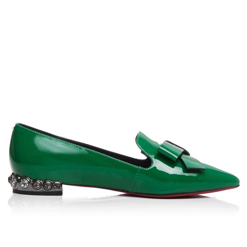 Femmes Véritable Main De Style Noir Pour Vert Bout Vintage Chaussures Noir Britannique vert Rond Cuir Xiuningyan En Oxford Femme Plat gxpgvdq