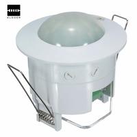 AC 220 В-240 В 50 Гц 360 градусов Мини встраиваемые ПИР потолочный размещение движения Сенсор переключатель детектора дома инструмент Толс свет
