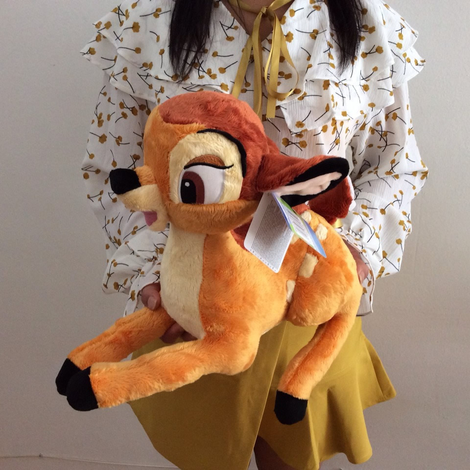 Free Shipping 35cm=13.8inch Cartoon Little Deer Bambi Plush Stuffed Animal Toy Birthday Gift For Children