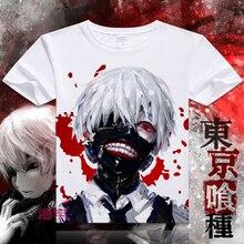 Tokio Ghoul Camiseta de Manga Corta New Japan Anime Cosplay Kaneki Ken Hombres Mujeres Camiseta Camiseta Impresa Algodón Transpirable