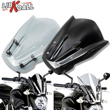 Windshield Windscreen with Mounting Bracket For YAMAHA MT07 MT-07 MT 07 FZ-07 FZ07 FZ 07 2013-2017 Wind Deflectors Cover favourite подвесная люстра favourite royalty 2021 8p