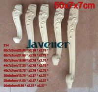 Z14 50x7x7cm Wood Carved Onlay Applique Carpenter Decal Wood Working Carpenter Leg Table