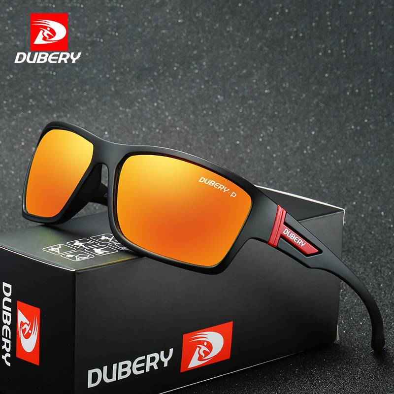 DUBERY Aviação Condução Tons Óculos de Sol Masculinos Óculos Polarizados Óculos de Sol dos homens Para Homens 2017 Marca de Luxo Designer de Óculos de Segurança
