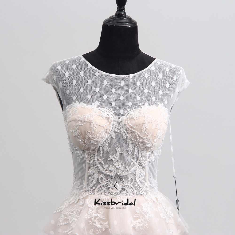 Последние Дизайн Кружева Свадебное платье без рукавов 2018 Аппликации Высокая шея Свадебные платья