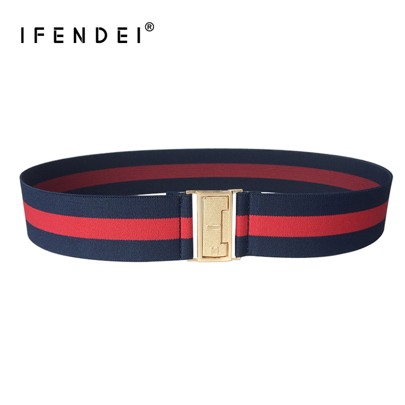 IFENDEI   Belt   Women for Dress Stretch Elastic Female   Belt   Luxury Brand Stretchy Fashion Design Waistband for Ladies' Jeans Corset