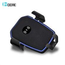 FDGAO Автомобильный держатель для iPhone X XS Max XR 8 плюс Qi Беспроводной автомобиля Зарядное устройство для samsung S8 S9 автомобильный держатель телефона заряда адаптер