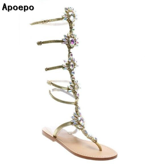 2017 hot selling woman sandal bling bling crystal embellished sandal boots cutouts rhinestones gladiator flat sandal women flat pom pom decor flat sandal crystal butterfly knot summer shoe cutouts sandal mixed color fur gladiator sandal