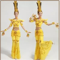 Adult Dance Costume Classical Dance Costume Chinese Folk Dance Performance Dance Avalokitesvara Costumes TB1042