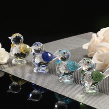 Aves estatueta decoração mão artesanato arte collectible vidro soprado ornamento animal para casa acessórios pequenos ornamentos novo