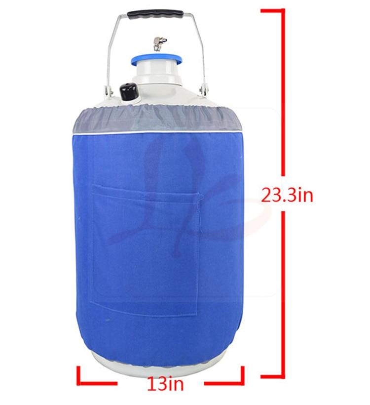 10L Nitrogen Container Tank Dewar with Straps Liquid Nitrogen Tank u s solid 3 l liquid nitrogen container cryogenic ln2 tank dewar with straps 6 canisters 25 days