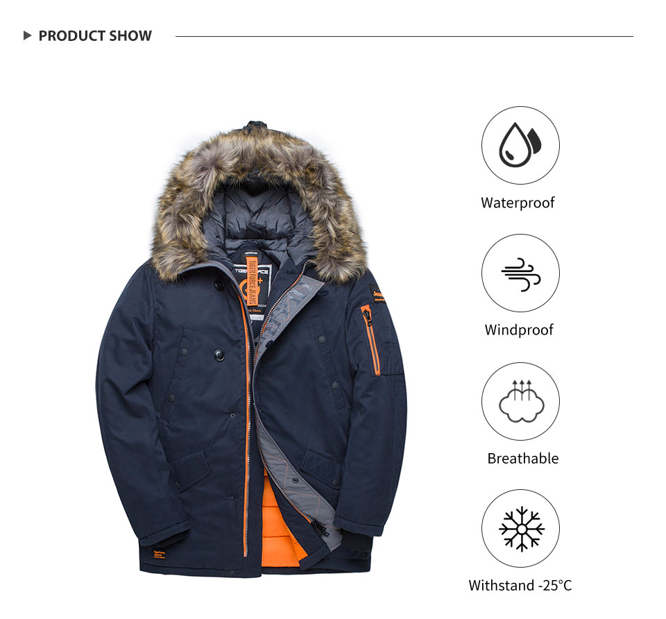 parka rússia homem casaco de inverno pele
