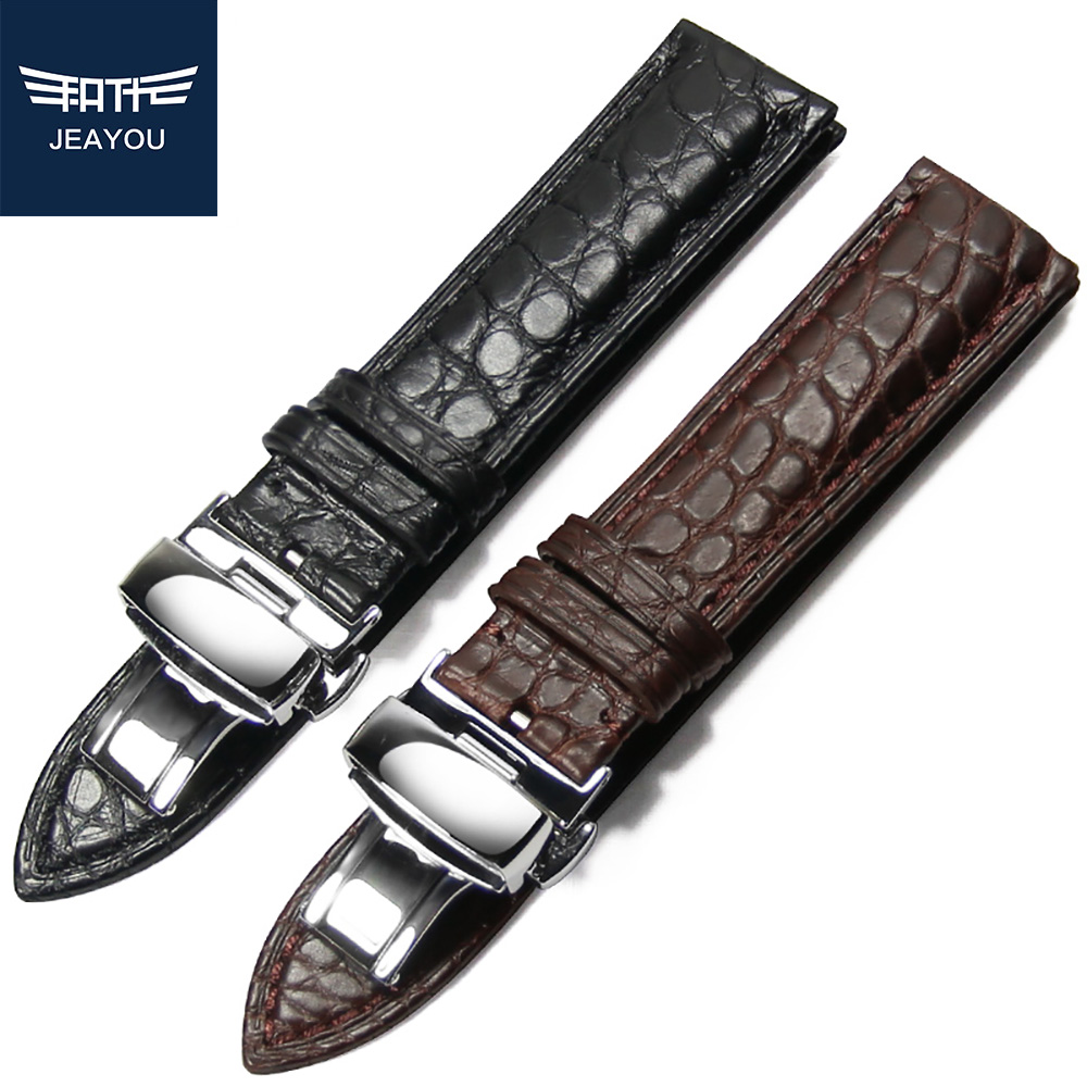 JEAYOU Real Alligator Hand Made Watchband For Piaget/Breguet/VC/PP Men 18/19/20/21/22mm