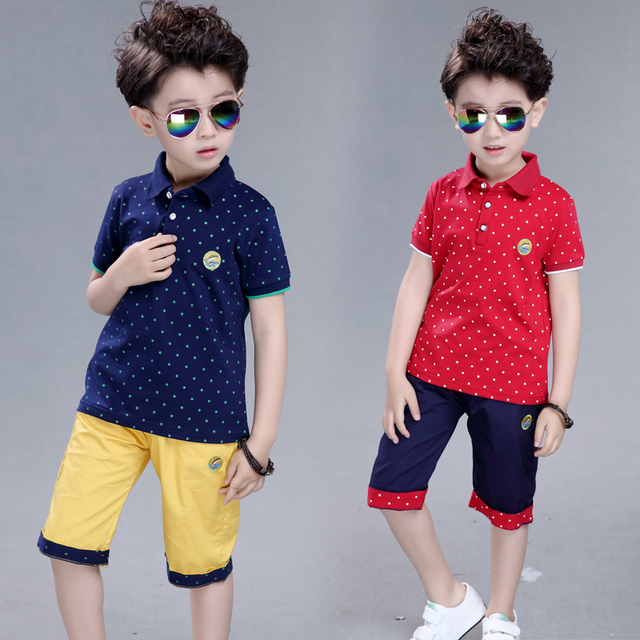children's clothing male child summer set boy sports summer child baby short-sleeve