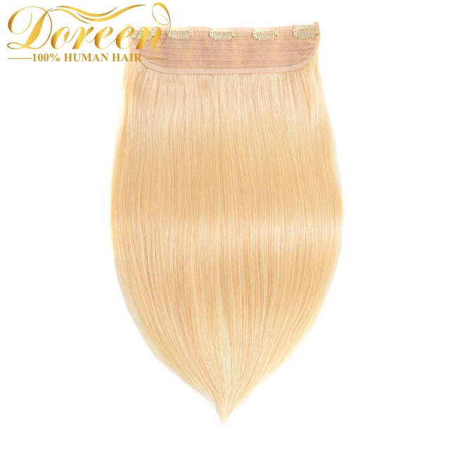 Doreen 100g 18inch 45cm One Pieces Set No Remy Clip In Human Hair