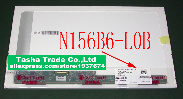 ФОТО N156B6-L0B Rev.c1 N156B6 L0B N156B6-L04 Rev.c1 Matrix for Laptop 15.6 Screen LVDS 40pins 1366x768 Glossy