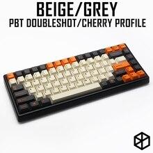 Pbt doubleshot keycaps cherry profiel carbon colorway beige orange grijs voor xd60 xd64 tada68 96 xd84 xd68 1800 87 tkl 104 ansi